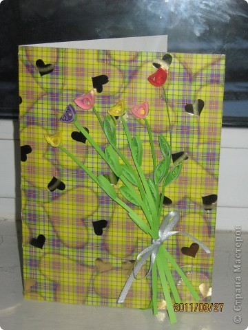 новая открыточка тюльпанчики весенняя фото 1