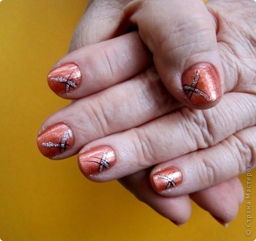 Здравствуйте,милые мастерицы!По просьбам выставляю несколько дизайнов на коротких ногтях.Многие варианты можно выполнять как на длинных,так и на коротеньких ноготочках. фото 3