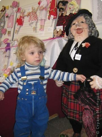 У нас в городе(Запорожье)проходит выставка кукол,очень понравилась.Под  впечатлением решила  сделать пару кукол.  фото 5
