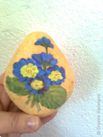 рисунка върху камък- опит преди време фото 1