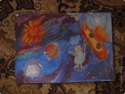 Дениска Коровенков, 7 лет выполнил рисунок на стекле. фото 6