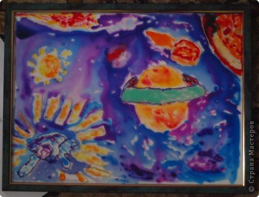 Дениска Коровенков, 7 лет выполнил рисунок на стекле. фото 4