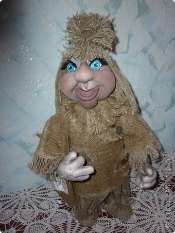 Кукла тонирована кофейно-ванильным раствором. фото 1