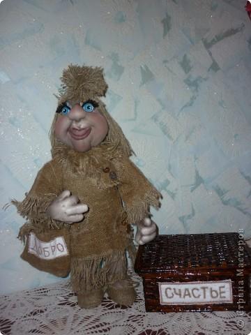 Кукла тонирована кофейно-ванильным раствором. фото 2