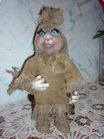 Кукла тонирована кофейно-ванильным раствором. фото 3