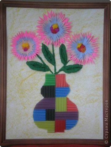 Цветы из гофрированной бумаги фото 4