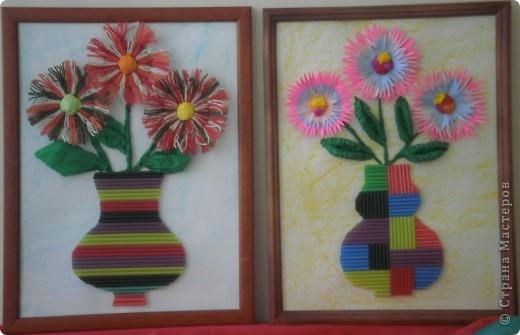Цветы из гофрированной бумаги фото 6