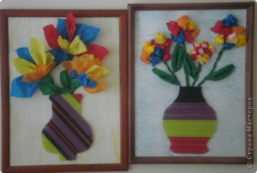 Цветы из гофрированной бумаги фото 7
