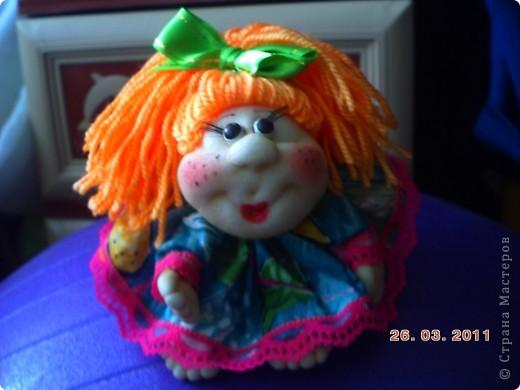 У нас в городе(Запорожье)проходит выставка кукол,очень понравилась.Под  впечатлением решила  сделать пару кукол.  фото 3