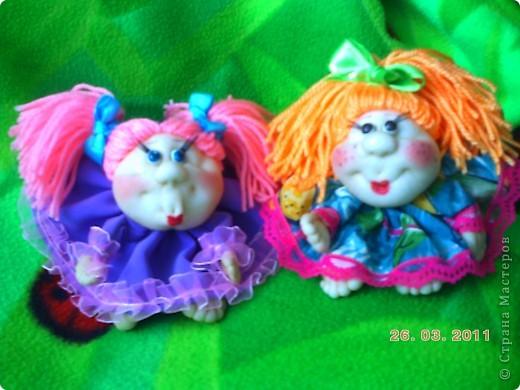 У нас в городе(Запорожье)проходит выставка кукол,очень понравилась.Под  впечатлением решила  сделать пару кукол.  фото 1