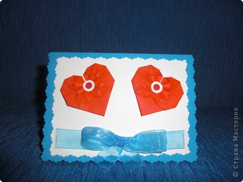 Такую маленькую открыточку я подарила Любимому на День Святого Валентина! фото 1