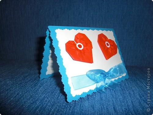 Такую маленькую открыточку я подарила Любимому на День Святого Валентина! фото 2