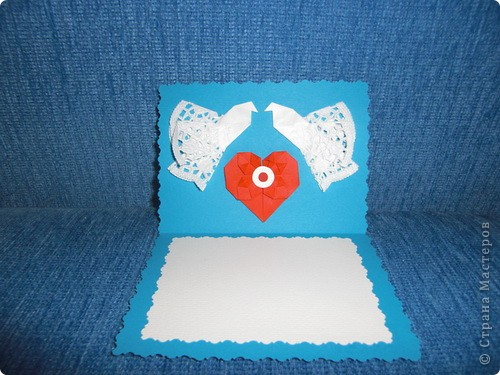 Такую маленькую открыточку я подарила Любимому на День Святого Валентина! фото 3