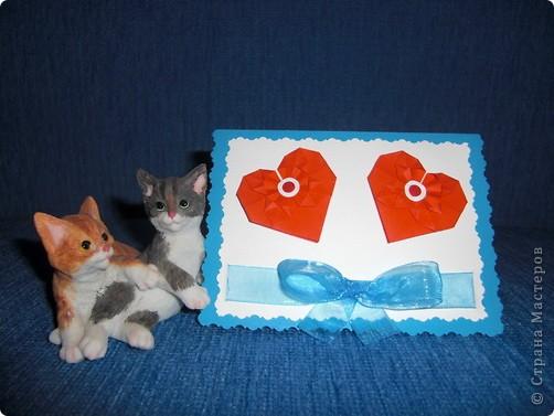 Такую маленькую открыточку я подарила Любимому на День Святого Валентина! фото 4