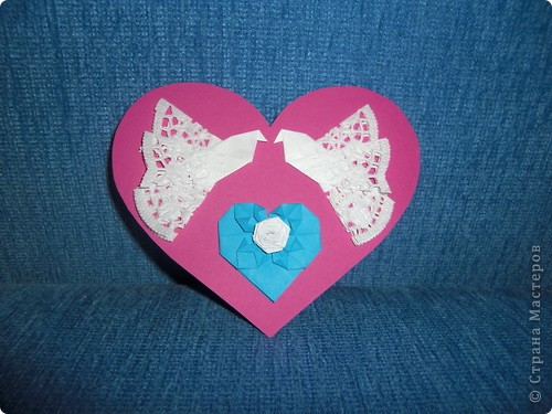 Такую маленькую открыточку я подарила Любимому на День Святого Валентина! фото 6