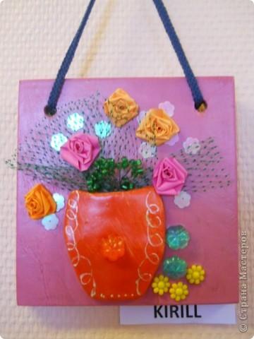 основа-дерево,глина,,, фурнитура-бумажные цветы,различная сетка,пуговицы,,,, покраска- акриловые краски фото 1