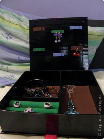 Эту коробочку я делала в подарок знакомой, у которой была проблема с хранением бижутерии. фото 9