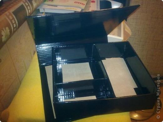 Эту коробочку я делала в подарок знакомой, у которой была проблема с хранением бижутерии. фото 3