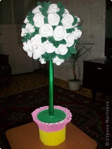 Деревце из роз фото 2