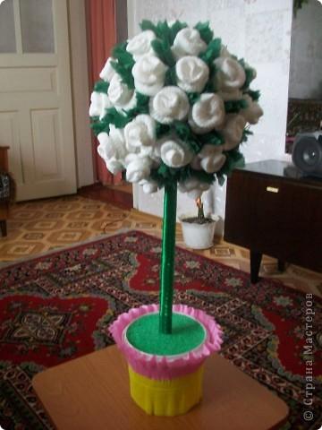Деревце из роз фото 1