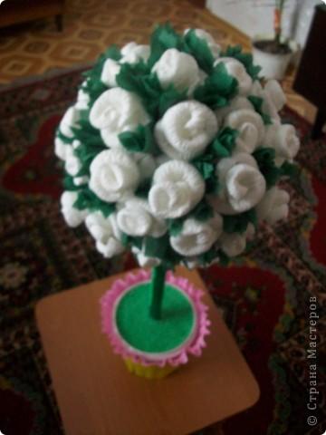 Деревце из роз фото 3