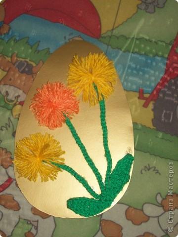 На весенних каникулах Танюшка загорела желанием сделать поделки к пасхе. И Вот что у неё получилось : Пасхальная корзина. Игрушка-мобил. фото 3