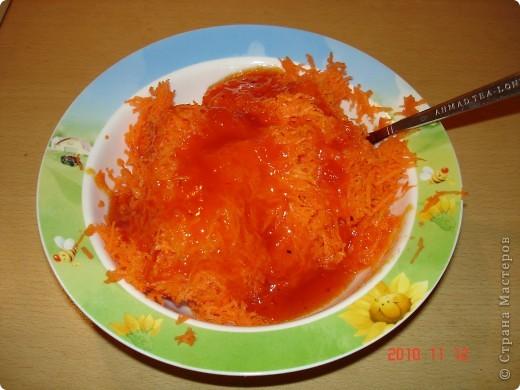 Хочется поделиться рецептом салата. Сладкий, полезный и простой. состав: морковь, варенье облепиховое. И все. фото 1