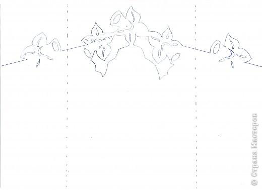 открытка-нарциссы+шаблон фото 3