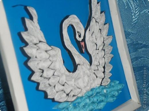 Лебедь квиллинговый красота фото 3