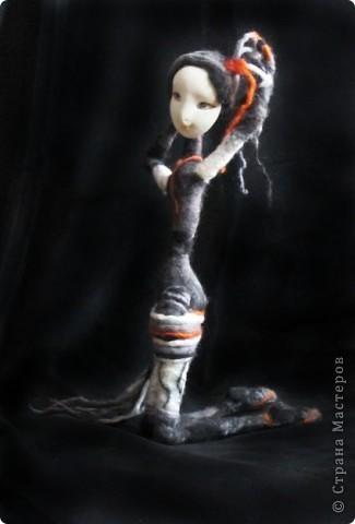 """Авторская текстильная кукла """"Вертихвостка"""" фото 2"""