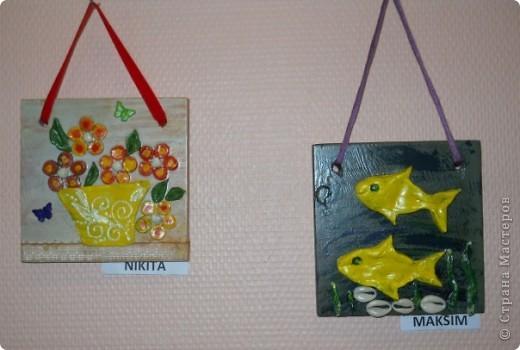 основа-дерево,глина,,, фурнитура-бумажные цветы,различная сетка,пуговицы,,,, покраска- акриловые краски фото 3