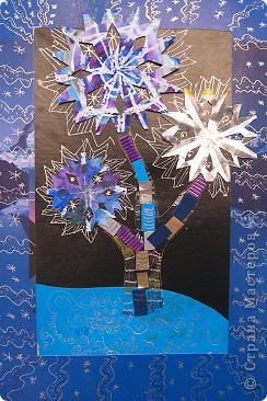 Снежинка и снежное дерево 4