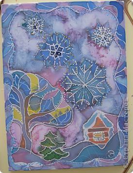 Снежинки , зимний пейзаж и панно
