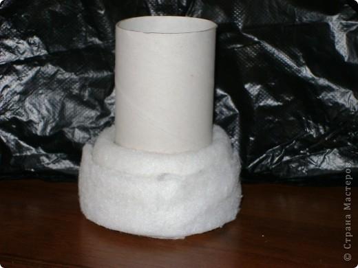 поэксперементировала с гофротрубочками и получилась вот такая вазочка фото 2
