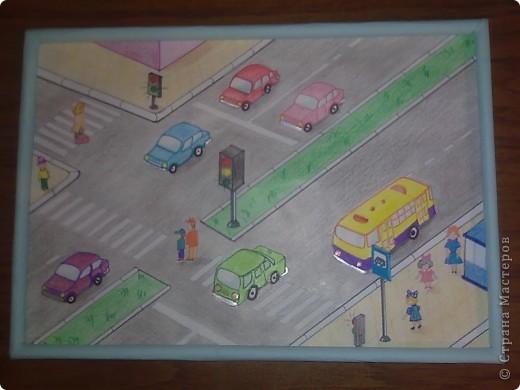 Эта картинка из соленого теста. Сюжет взят из детской раскраски. фото 2