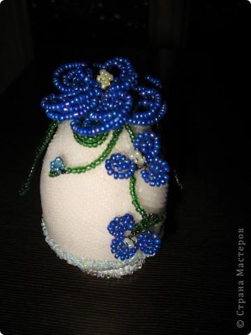 Пасхальное яичко из бисера  фото 2