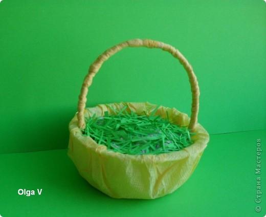 Готовимся к Пасхе. Очень понравились яйца из журнальных листов на корейском сайте http://blog.naver.com/paper6262 Только там подарочные яйца, в которых внутри конфетки.  Я решила сделать пасхальные яйца из журнальных и рекламных листов в корзинке.  фото 5