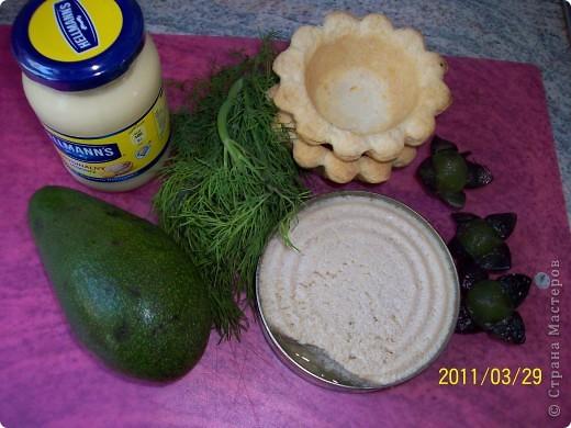Тарталетки с авокадо и икрой минтая фото 2