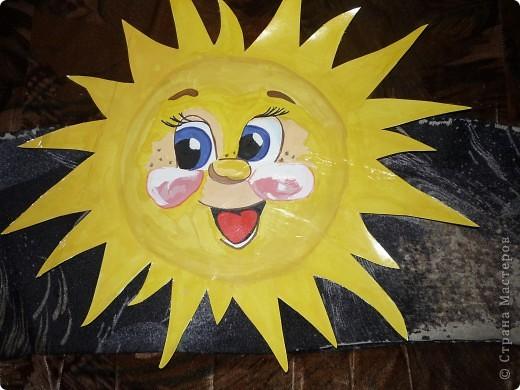 Очень захотелось весеннего солнышка, а оно у нас запаздывает, вот и пришлось нарисовать!