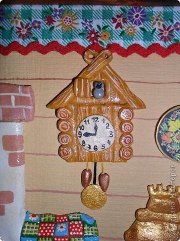 Привет, рада всем кто заглянул ко мне снова или в первый раз!Это панно я делала для нашего детского сада.У нас организовали уголок Кубанской культуры и мы с сыночком решили внести свою маленькую лепту.Размер рамы 43 * 32.Краска гуашь,все детали покрыты лаком,вобщем то , всё как всегда! фото 2