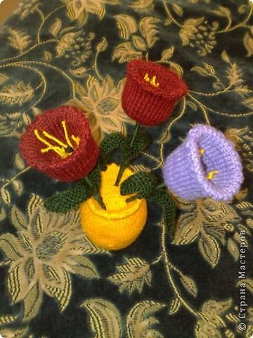 Вязаные тюльпаны !!! МК фото 1