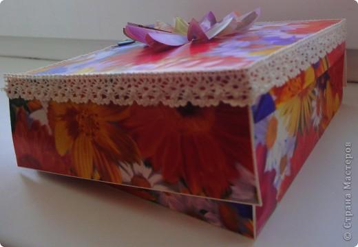 Легкая коробочка для моих цветочков.теперь им есть где жить)) фото 3