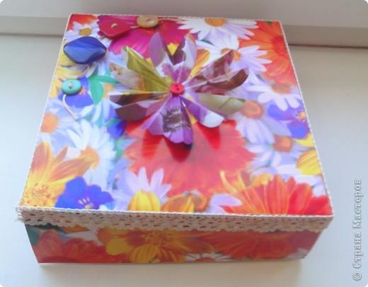 Легкая коробочка для моих цветочков.теперь им есть где жить)) фото 1