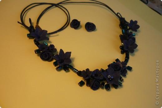 камень + цветы ручной лепки фото 2