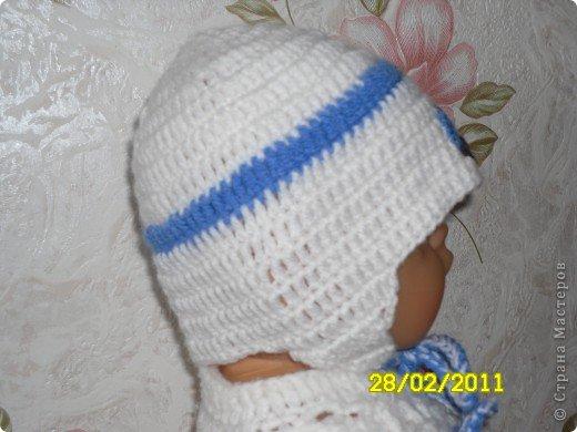 Шапочка на ребёнка 0-3 мес  фото 2