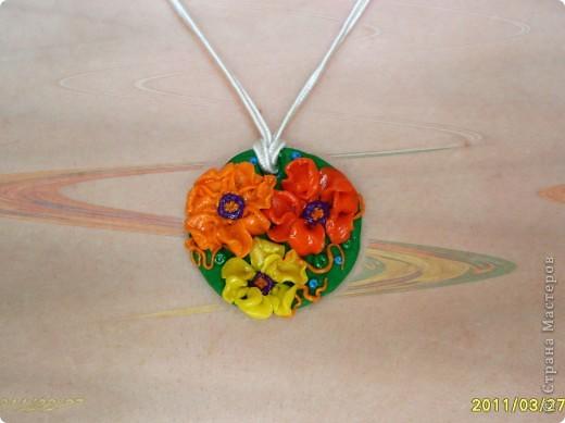 Этот кулончик сделала моя Дочка, ей 6 лет. я помогла чуть чуть))) красота?