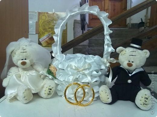 Мишки Тэдди женятся и с ними газетная корзина фото 1