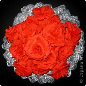 Алые розы фото 2