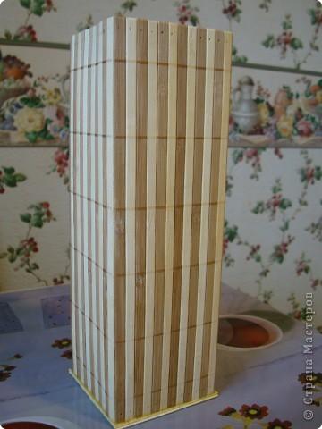 В дополнение к ранее сделанным панно, появилась вазочка. фото 2