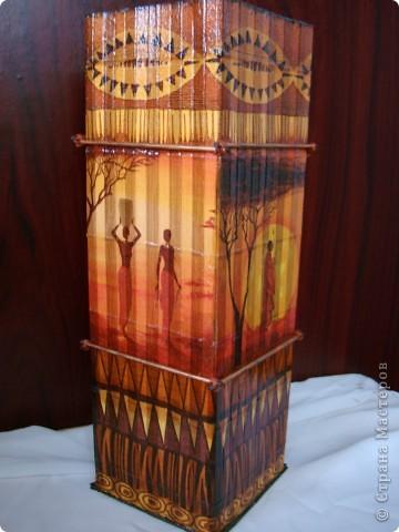 В дополнение к ранее сделанным панно, появилась вазочка. фото 8